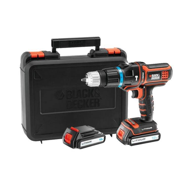 Black & Decker Taladro percutor Multievo B&D 18 V 1.5 Ah Litio MT188KB
