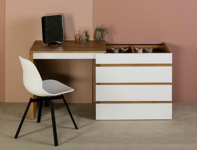 Comoda escritorio elbir blanco roble 80-150x55