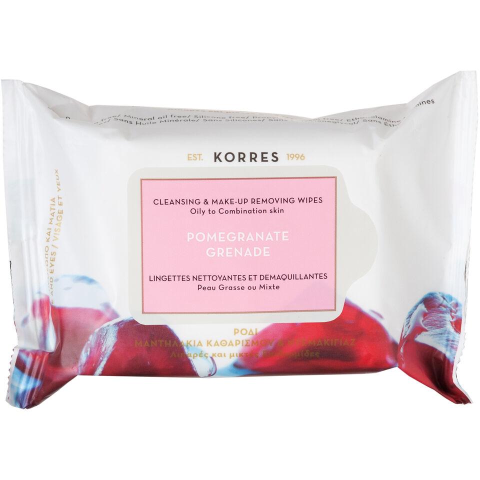 Korres Granada toallitas limpiadoras de  - Pieles grasas/mixtas (25 toallitas)