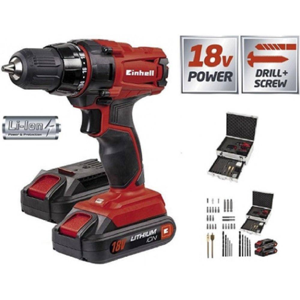 Einhell Kit taladro sin cable litio TC-CD 18-2 Li Einhell