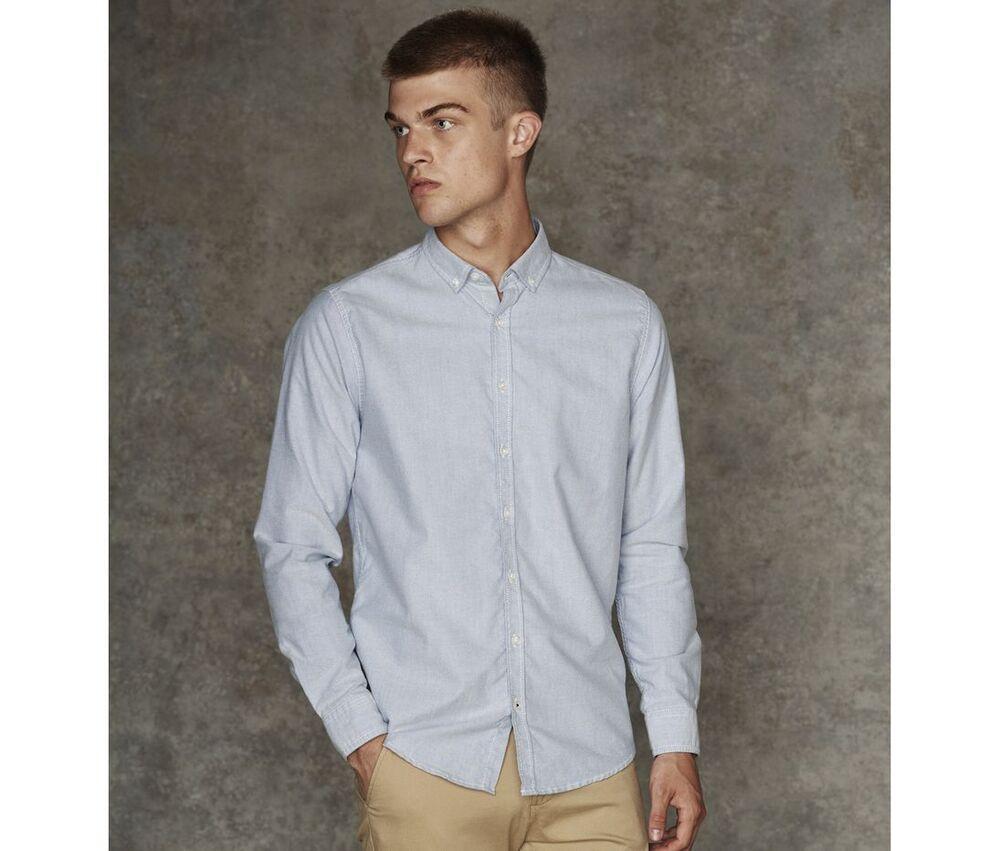 Front Row Fr502 - Camisa De Botones Para Hombres Azul Claro - L