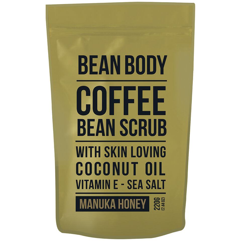 Bean Body Exfoliante de Granos de Café de  220 g- Miel deManuka