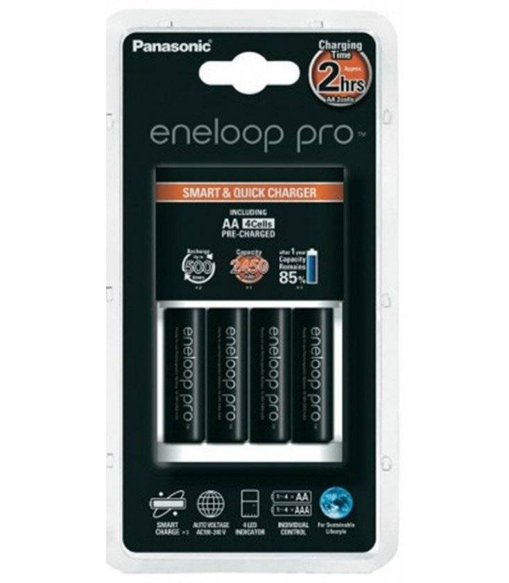 Panasonic Cargador + 4pilas Aa Eneloop - Bq-cc55e Pro