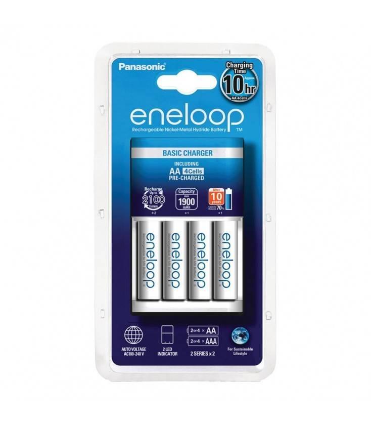 Panasonic Eneloop 4 Pilas + Cargador