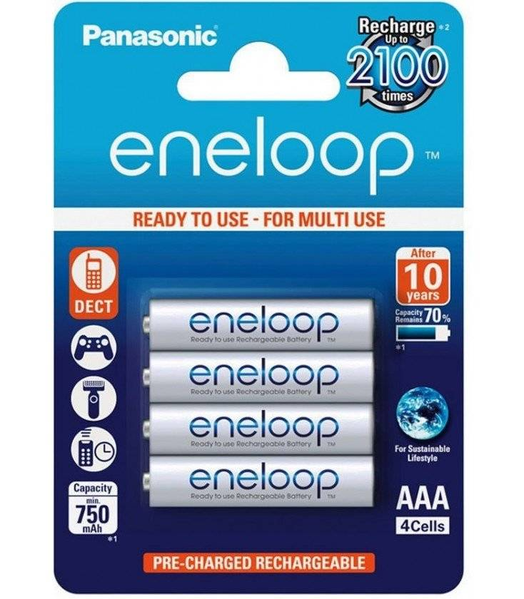 Panasonic Eneloop Blister 4 Pilas Recargables Aaa/750ma.