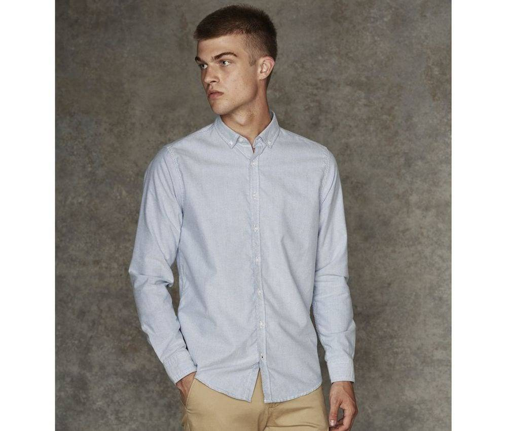 Front Row Fr502 - Camisa De Botones Para Hombres Azul Claro - M