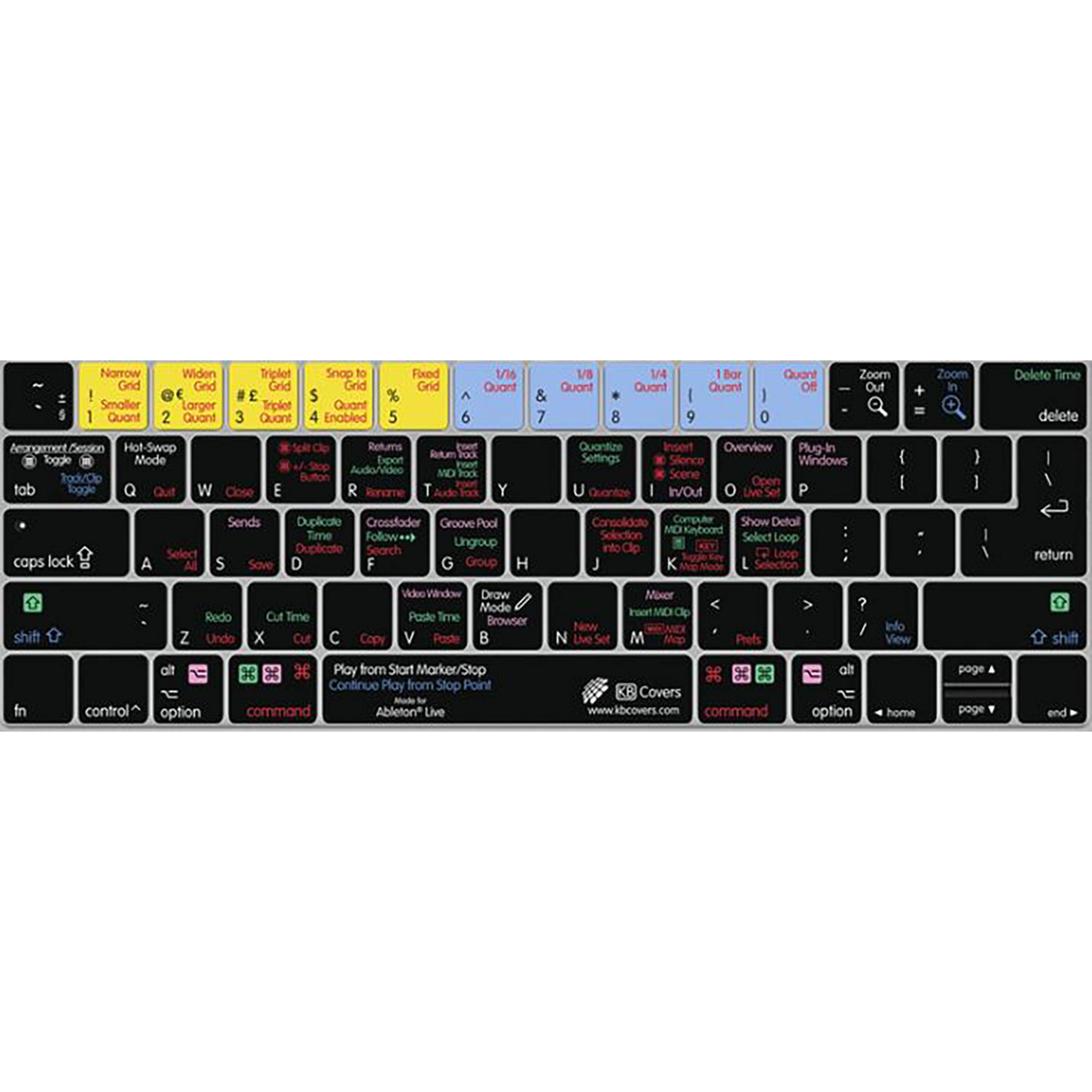 KB Covers Ableton Live Keyboard Cover for MacBook/Air 13/Pro (2008+)