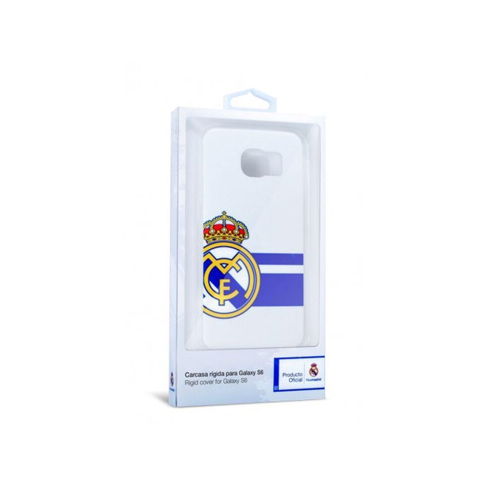 Real Madrid Merchandaising equipos de fútbol oficiales carcasa real madrid samsung galaxy s6 bl