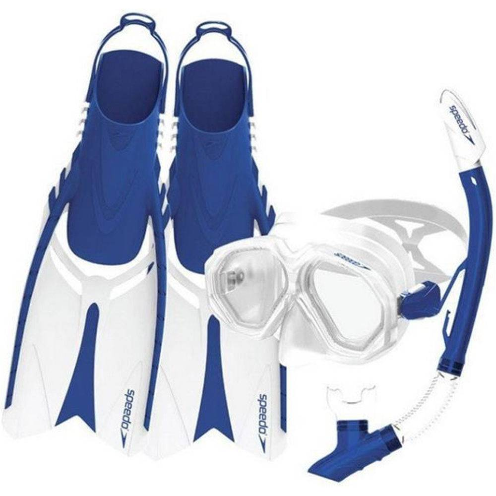 Speedo Kit gafas y tubo snorkel speedo leisure adult dual lenses and fins set
