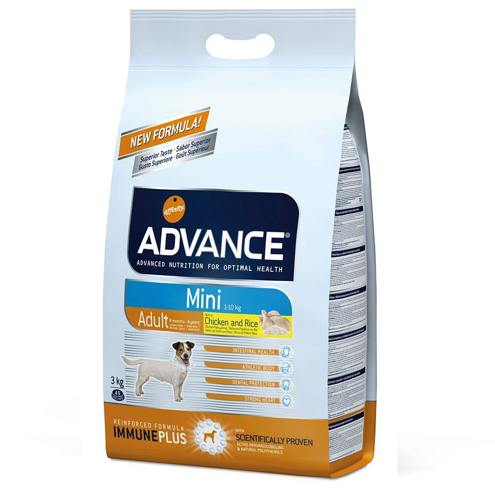 Affinity Advance 7,5 kg Advance Mini Adult pollo y arroz pienso para perros