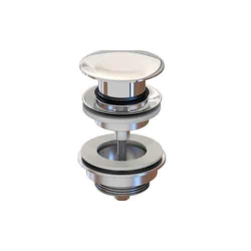 Válvula clic-clac redonda tornillo plana - Inbaño