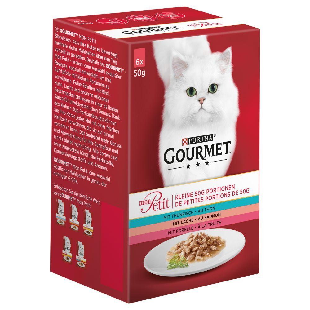 Gourmet Lote mixto: Purina  Mon Petit en sobres para gatos - Variedades Mon Petit