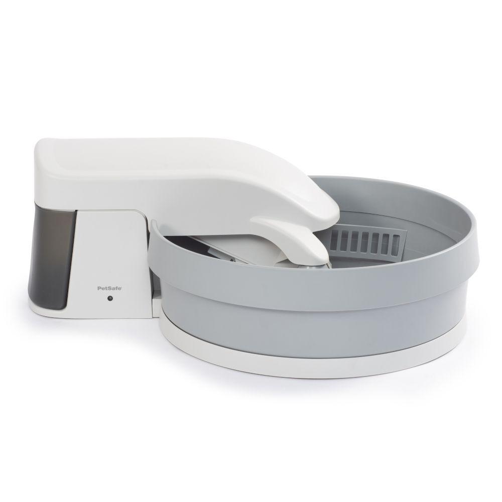 Petsafe Arenero autolimpiable Simply Clean de  color blanco/gris