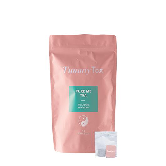 Sensilab TummyTox Pure Me Tea: una infusión depurativa natural con cardo mariano, té verde, raíces de diente de león y de bardana. 20 bolsitas por 20 días