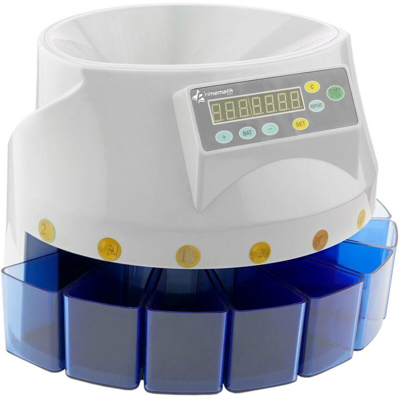 PrimeMatik - Contador de monedas con clasificador automático para Euro