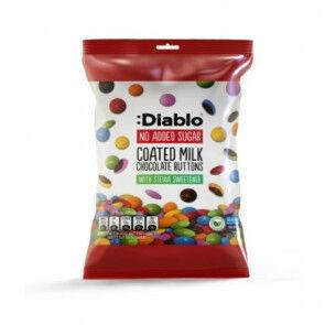 :Diablo Botones de Chocolate con Leche Sin Azúcar  40g
