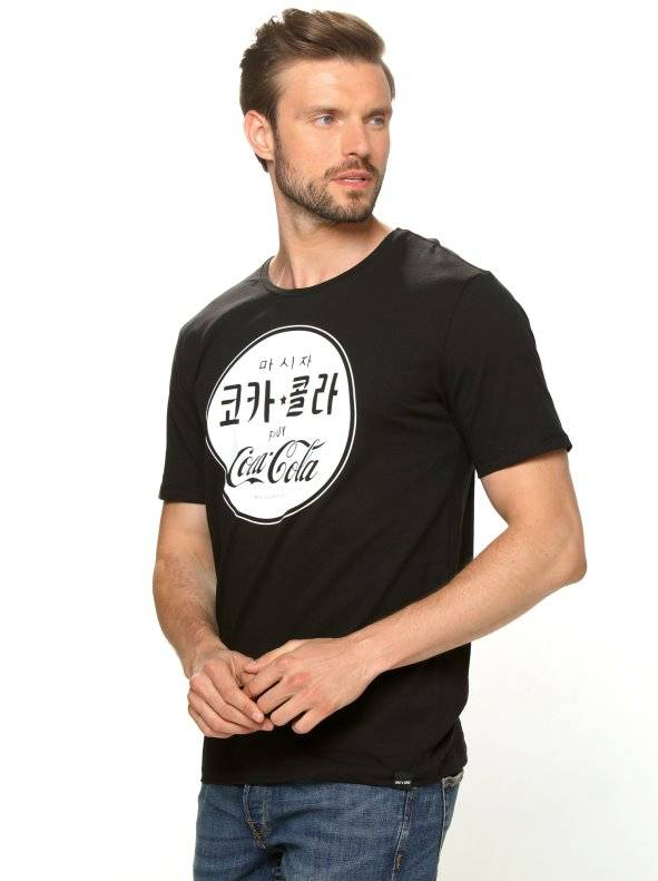 Only & Sons Camiseta manga corta estampado Coca Cola negro M