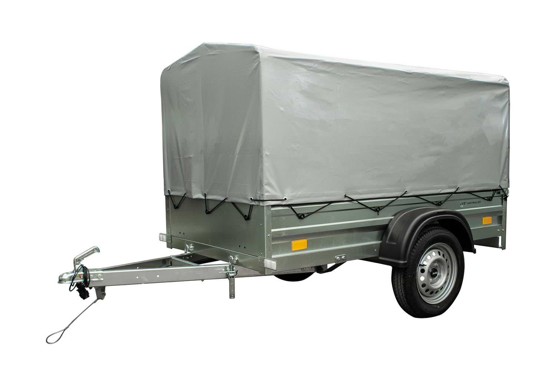 Remolque basculante ligero 200 x 106 con lona alta 750 KG Garden Trailer 200
