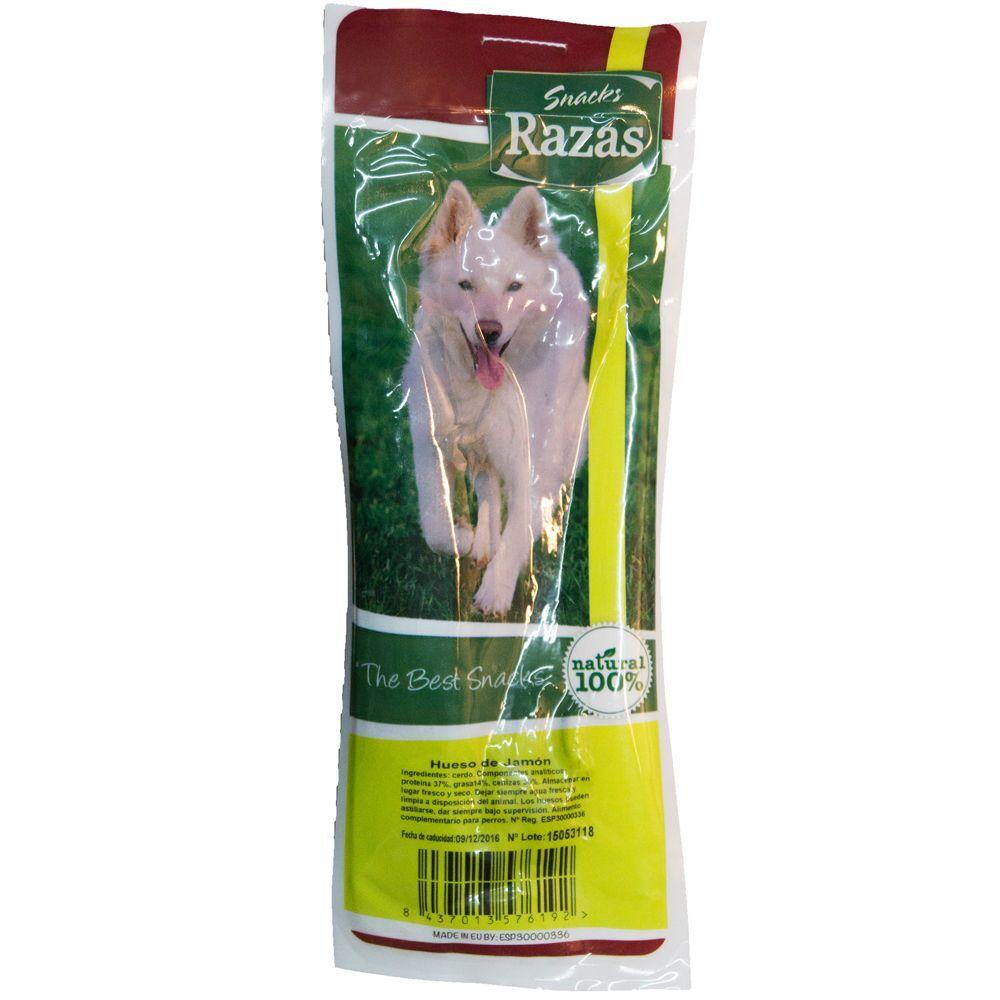 Grizzly Hueso de jamón serrano - Pack 10 unidades de aprox. 24 cm (3,5 kg)