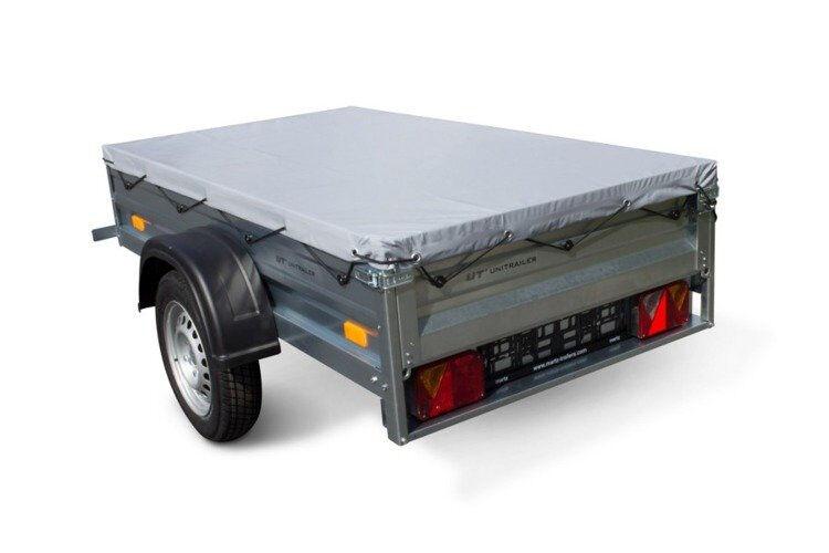 Remolque basculante de carga ligero con lona plana MMA 750 KG Garden Trailer 200