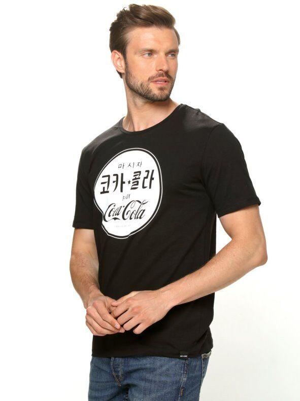 Only & Sons Camiseta manga corta estampado Coca Cola negro S