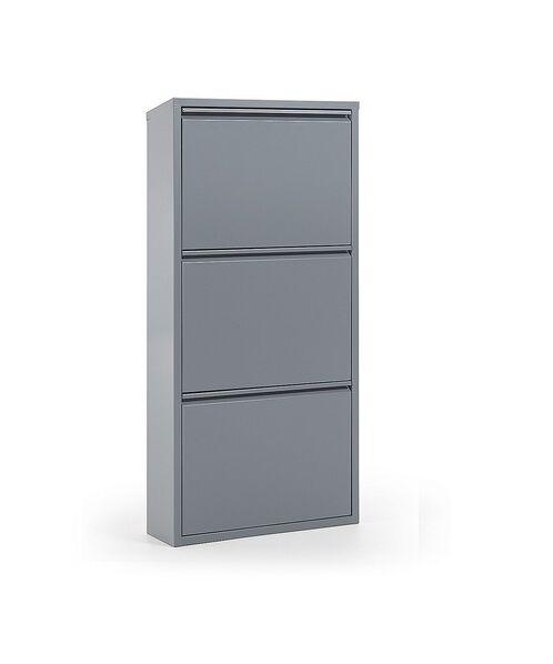 Zapatero metal 3 puertas gris