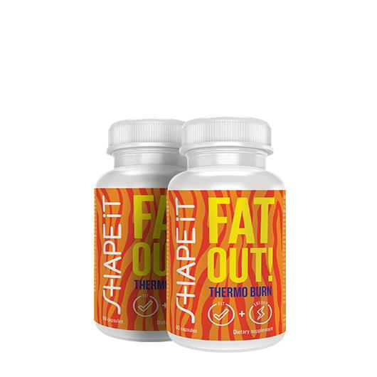 Sensilab Fat Out! Thermo Burn   1+1 GRATIS   Quemador de grasa térmico   Efecto adelgazante 5en1   2x 60 cápsulas   Sensilab