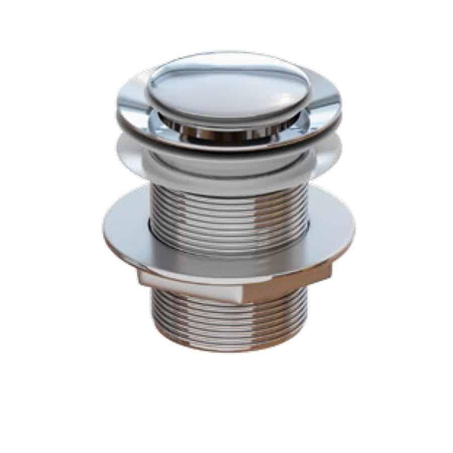 Válvula clic-clac redonda cromada tapón central -  In baño