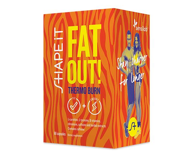 Sensilab Fat Out! Thermo Burn   Quemador de grasa térmico   Efecto adelgazante 5en1   60 cápsulas   Sensilab