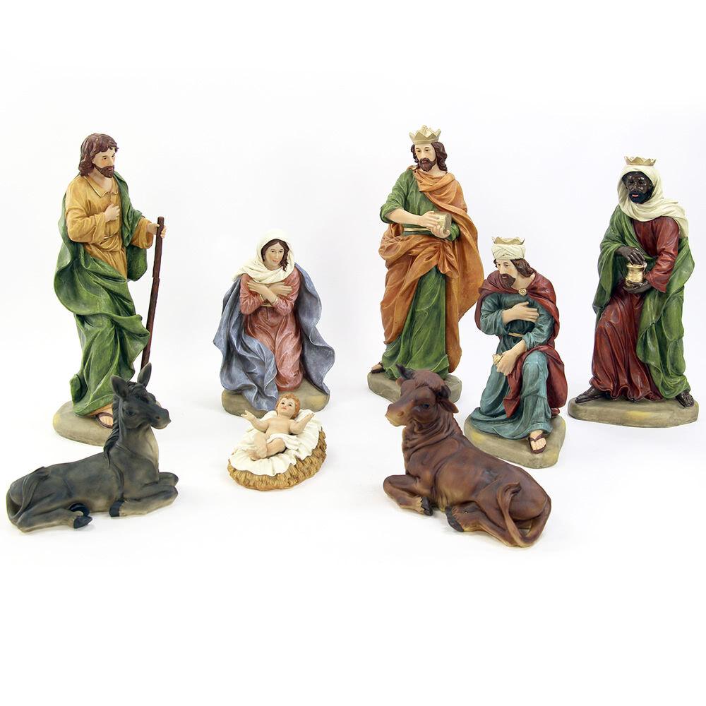 LOLA home Belén de Navidad de Nacimiento completo de 8 figuras de resina