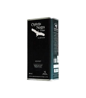 Aceite de oliva virgen extra ecológica cigüeña negra lata