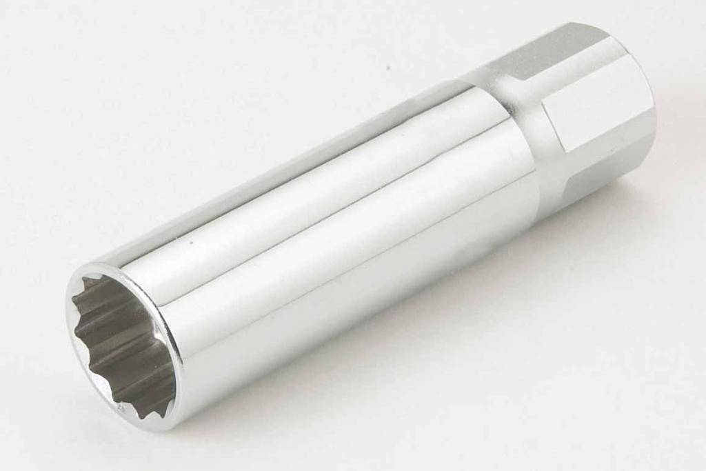 SAM Vaso 3/8 para bujías de gasolina con sistema de retención SAM BD-14-JC12
