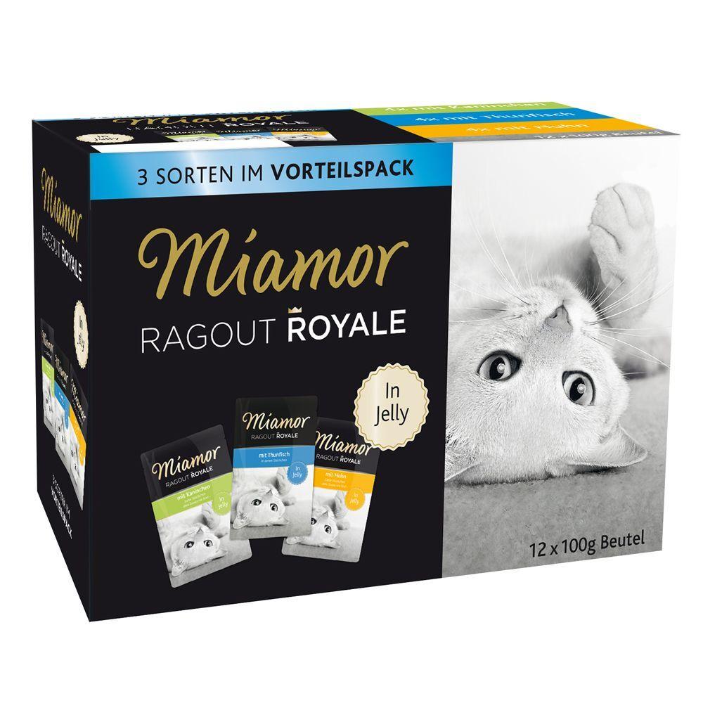 Miamor Ragú Royal 12 x 100 g - Pack de prueba - Conejo, pollo y atún en gelatina