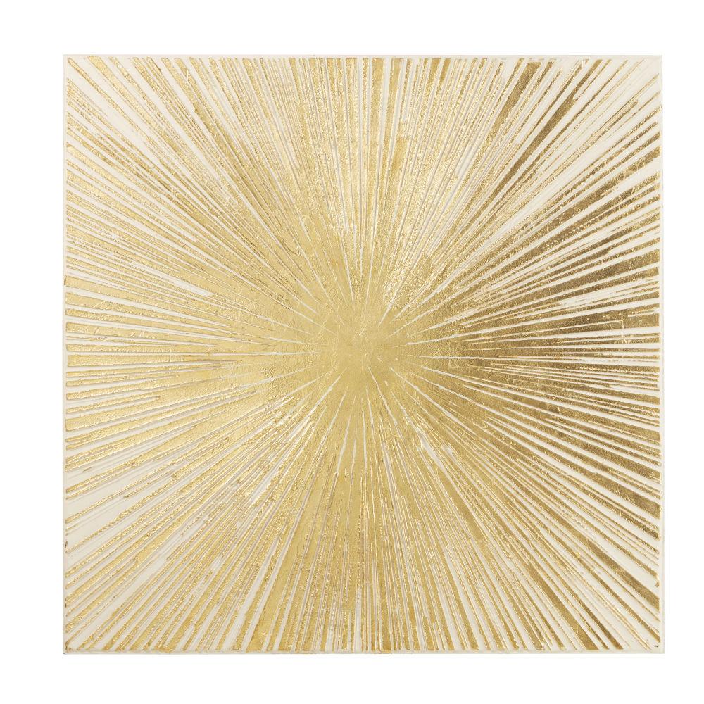 Maisons du Monde Lienzo con pintura dorada 95x95