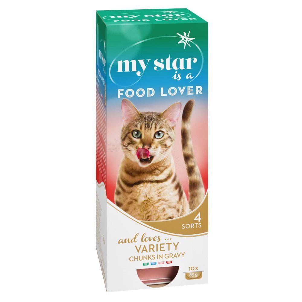 My Star is a Food Lover para gatos - Pack de prueba - 30 x 85 g (4 variedades)