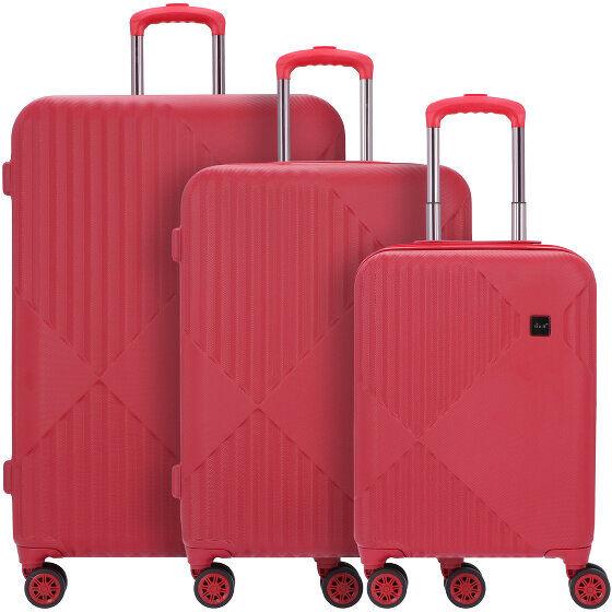 d&n Travel Line 9200 Maleta 4 ruedas set 3 pcs. rot