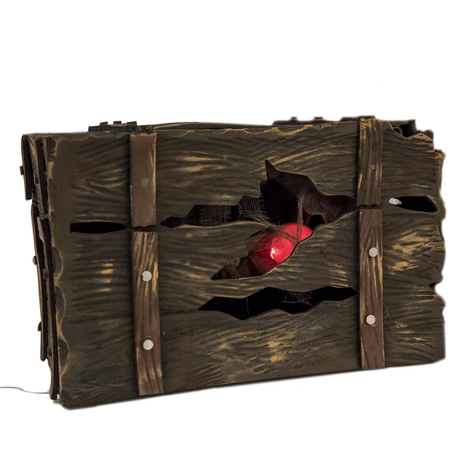 LOLA home Cofre pirata de Halloween de goma eva de 49x30x30 cm