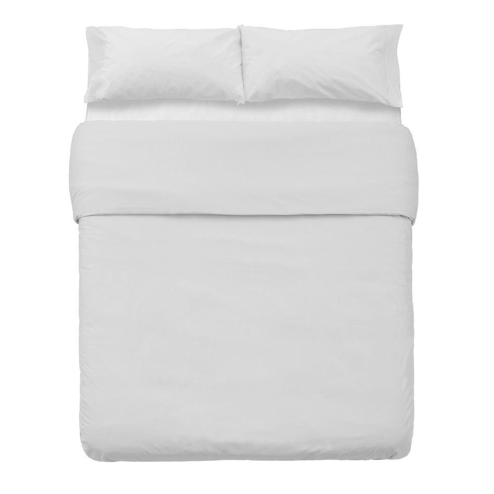LOLA home Funda nórdica blanca de algodón y poliéster clásica para cama de 150 cm