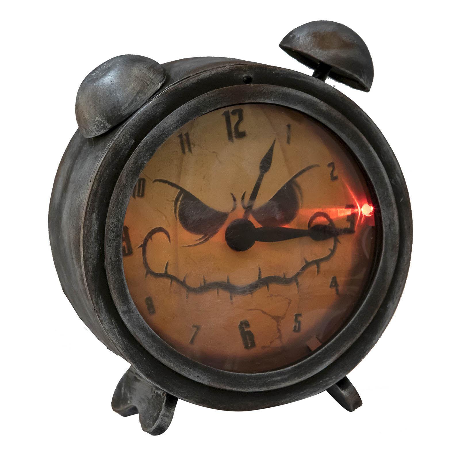 LOLA home Reloj despertador para Halloween de goma eva de 21x18 cm