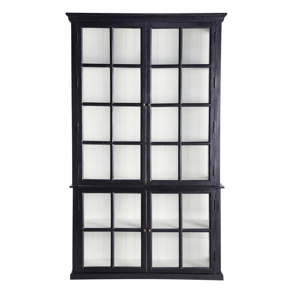 Maisons du Monde Biblioteca con 4 puertas acristaladas de mango negro Descartes