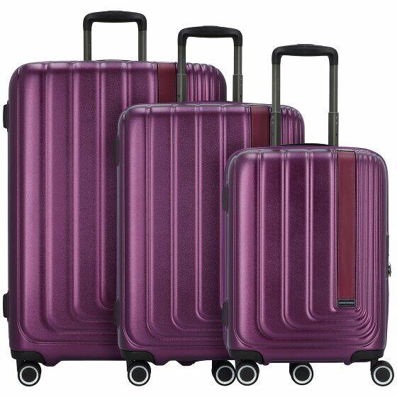 March15 Trading Beau Monde Maleta 4 ruedas set 3pcs. purple metallic