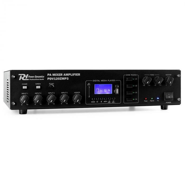 Power Dynamics PDV120ZMP3 - Amplificador PA 4 canales 120 W