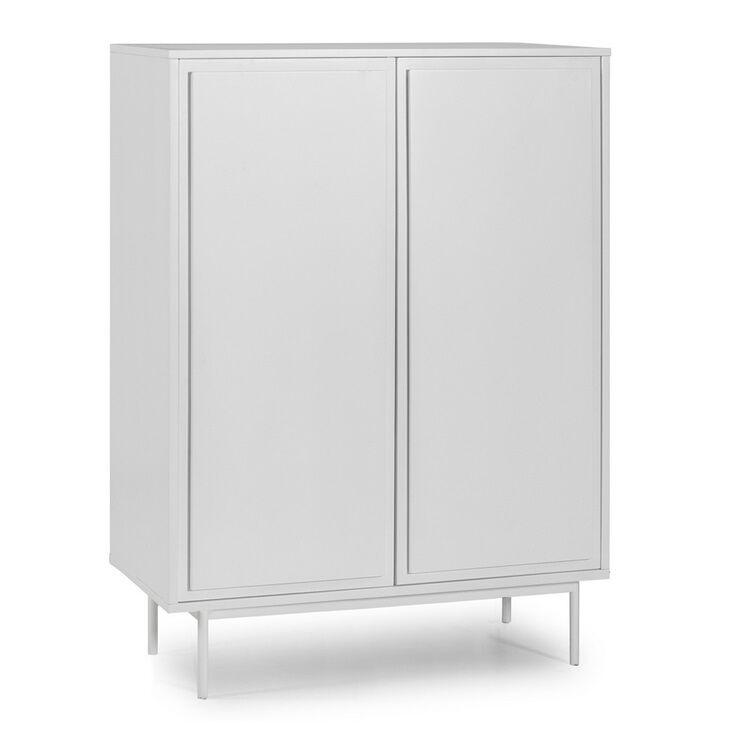 Mueble auxiliar forma 2 puertas blanco