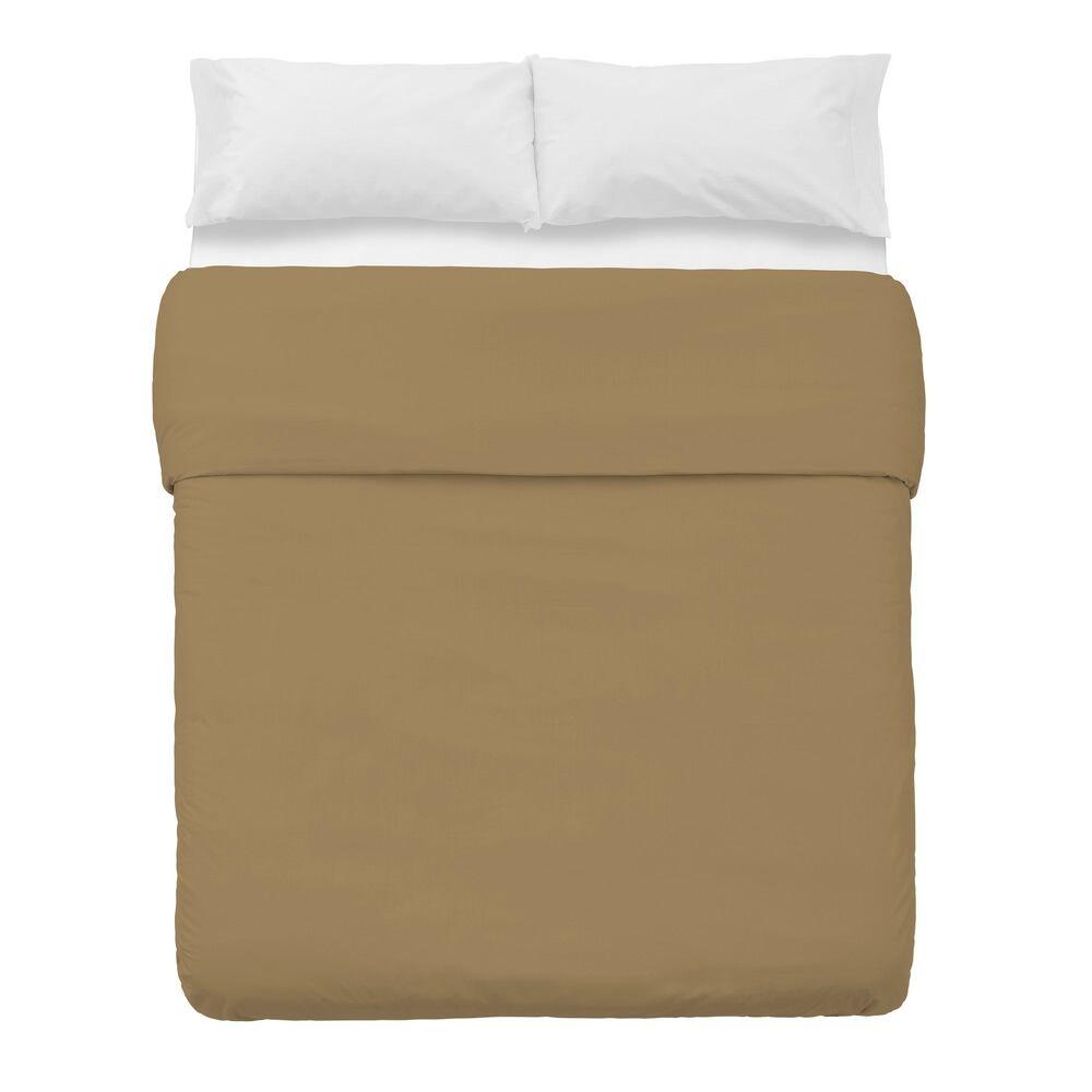 LOLA home Funda nórdica beige de algodón y poliéster clásica para cama de 150 cm