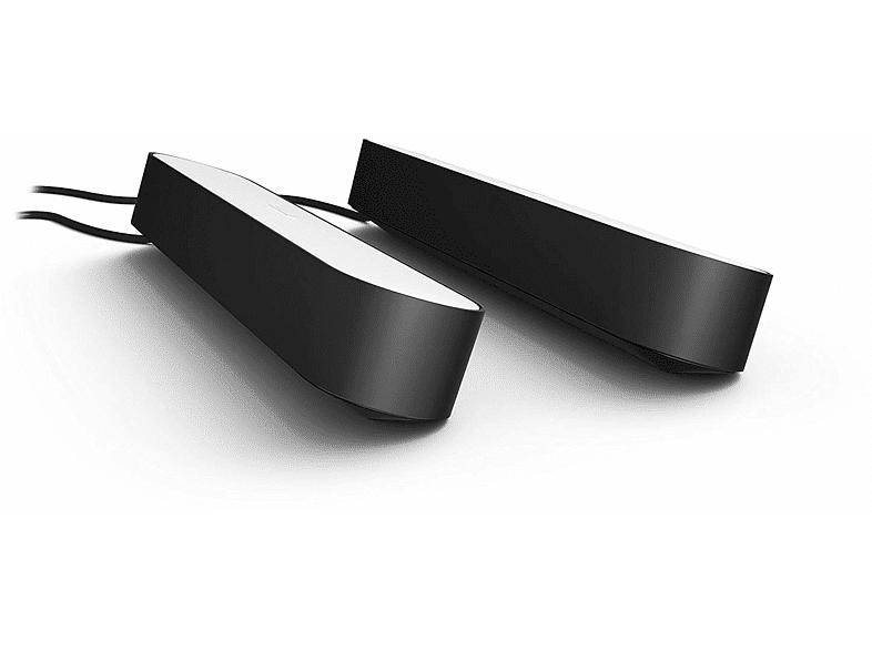 Philips Bombilla - Philips Hue Play, 2 Barra de luz negra, Inteligente, LED, Luz blanca y de color, Domótica