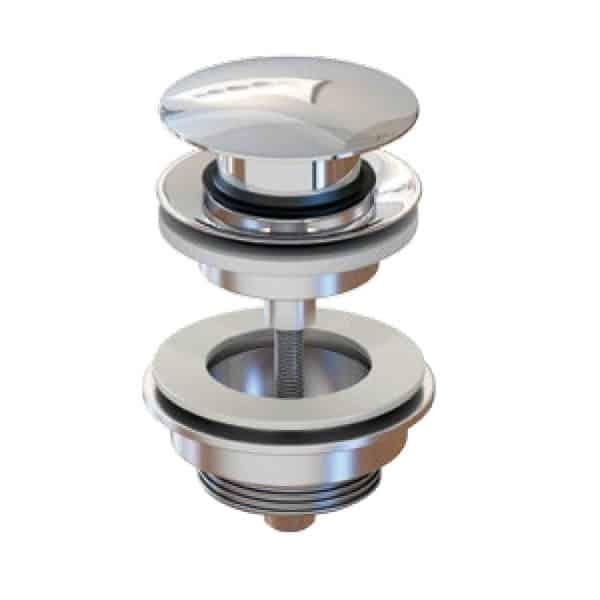 Válvula clic-clac redonda tornillo seta - Inbaño