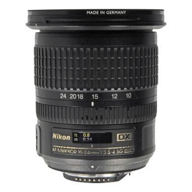 Nikon AF-S Nikkor 10-24mm 1:3.5-4.5G ED DX negro - Reacondicionado: como nuevo   30 meses de garantía   Envío gratuito