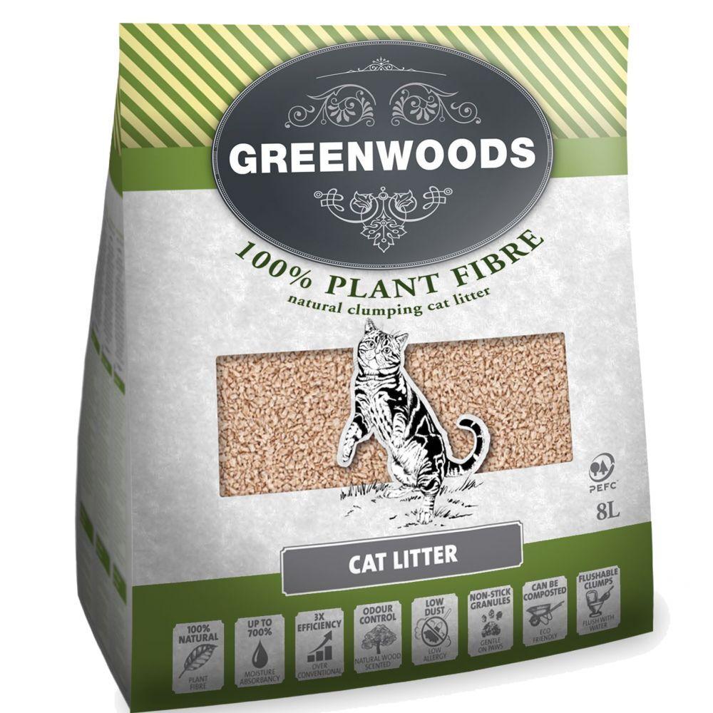 Greenwoods Arena  vegetal y bentonita en tamaño de prueba - Bentonita canadiense (1 x 6 kg)