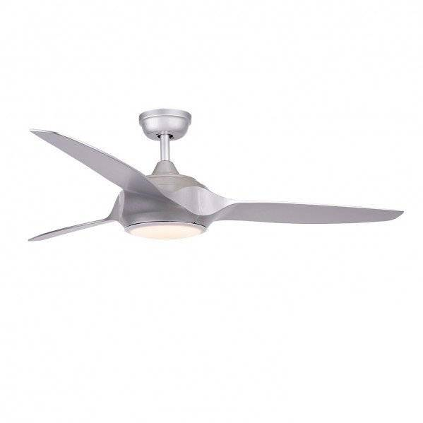 LBA Home Ceiling Fan Dc Design 132 Cm Silver Gray With Led Lamp Remote Control