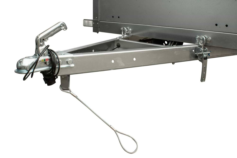 Remolque basculante de carga ligero 200 x 106 con lona alta MMA 750 KG Garden Trailer 200